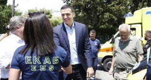 """Δημόσιο """"ευχαριστώ"""" Kικίλια στους εργαζομένους του ΕΚΑΒ για την προσφορά τους στα γεγονότα της Χαλκιδικής"""