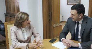 Συνάντηση Βασίλη Κικίλια – Στέλλας Κυριακίδου: Απόλυτη η ευθυγράμμιση μεταξύ Υπουργείου Υγείας και ευρωπαϊκών πολιτικών Υγείας